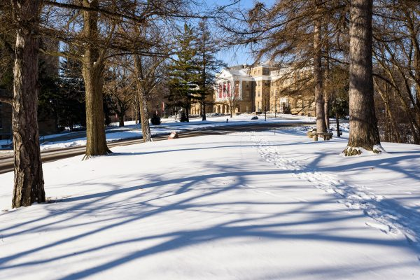 Bascom Hill in winter