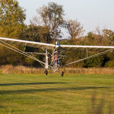 Ultralight taking off