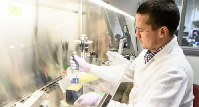 Andy Petersen at Waisman stem cell lab