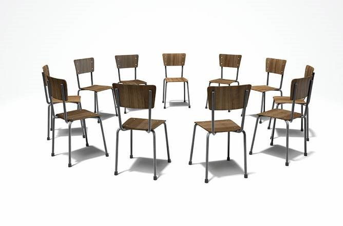 Chairs in a circle for group counseling session