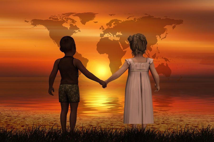 Boy and girl holding hands. Credit: Image by Gerd Altmann from Pixabay